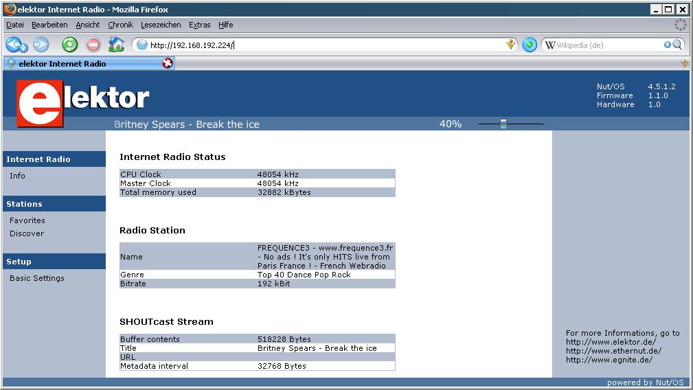 EIR Web Interface