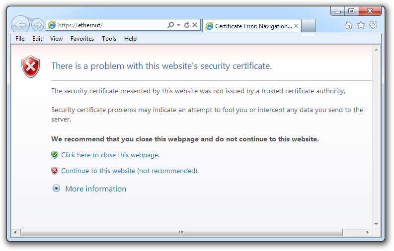 Self Signed Certificates In Ie