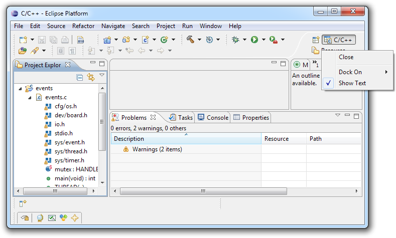 Configuring the Eclipse IDE for Nut/OS